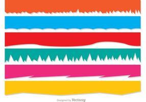 Zerrissenes Papier Vector Banners Pack
