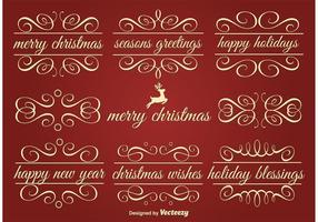 Vektor Holiday Ornament Text Ramar
