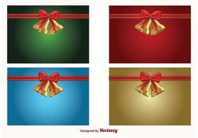 Jingle Bell Vektor Weihnachten Hintergründe
