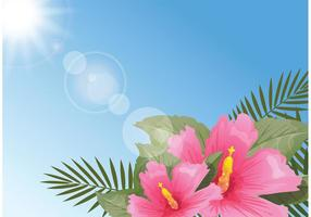 Free Stylish Polynesian Blumen Hintergrund vektor