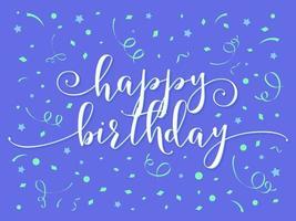 födelsedag handbokstäver vektor
