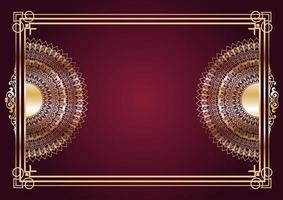 eleganter Goldmandala-Designhintergrund vektor