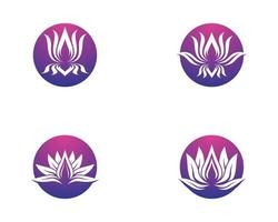 kreisförmiger Satz des Lotussymbols