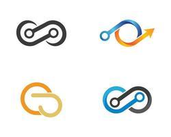 infinity abstrakt logotypuppsättning