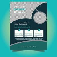 grüne runde Design-Design-Flyer-Vorlage