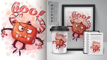 verrücktes Boo Monster Poster