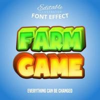 Farmspieltext, bearbeitbarer Schrifteffekt vektor