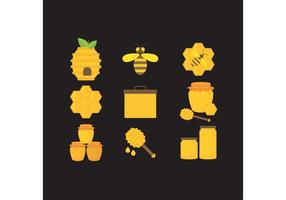 Honig Vektor Icons