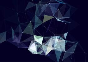 Plexus-Design mit Verbindungslinien und Punkten vektor