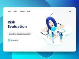 riskbedömning webbplats mall vektor