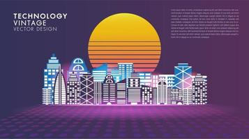 social stil smart stad affisch för vintage stil