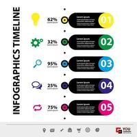 vertikala affärer infographic mall vektor
