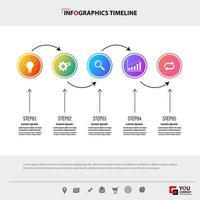 arbetsflöde infographic tidslinjemall vektor