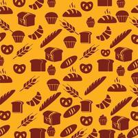 bakverk och bröd sömlösa mönster