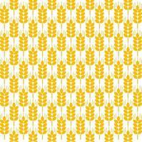 nahtloses Muster der Weizenähren vektor