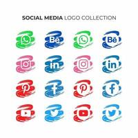 sociala medier logotyp samling