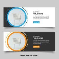 minimales Design-Banner-Set