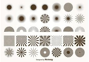 Vektor Sunburst Formen
