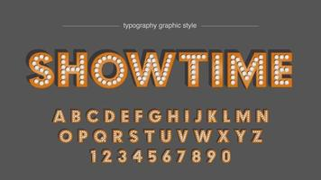 Showtime abstrakte Glühbirnen Typografie vektor