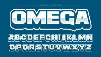 moderne blaue Retro Sportmannschaft Typografie vektor