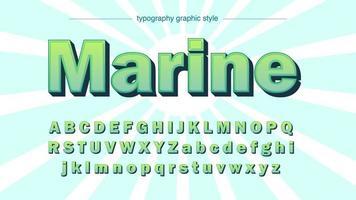 grön fet 3D-tecknad typografi