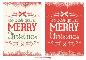 Weihnachtskarte Vektor Set