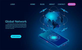satelliter runt om i världen över telefon