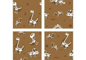 Dinosaurier Fossil Vektor Hintergründe