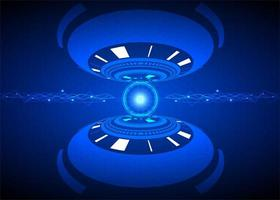 Futuristisk design för cybersäkerhetsteknik