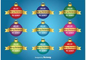 Weihnachten Rabatt Vektor Baubles
