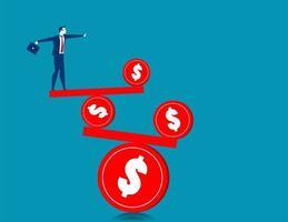 affärsman balansera ekonomi koncept
