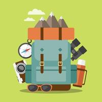 Wandern und Camping vektor