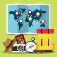 planerar resor runt om i världen vektor