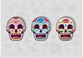 Dia de Los Muertos Zucker Schädel Vektor Pack