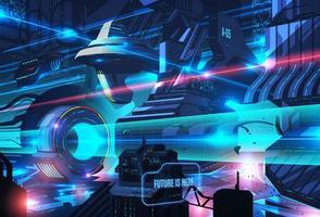 futuristisk stadsillustration vektor