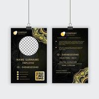 kunglig textur personlig ID-kortmall vektor