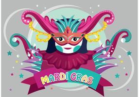Mardi gras karnevalvektor
