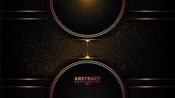 svart och guld abstrakt cirkel bakgrund vektor