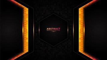 moderner abstrakter technischer orange Hintergrund