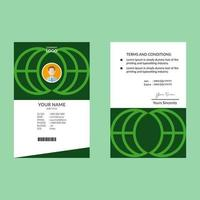 grüne saubere elegante ID-Karte Design-Vorlage