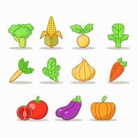 uppsättning grönsaker vektor