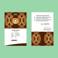 braunes und weißes sauberes Retro-ID-Karten-Design