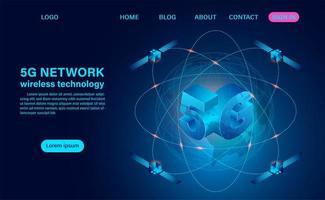 5g nätverk trådlös teknik koncept vektor