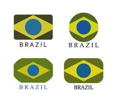 Brasilien Flaggen gesetzt vektor