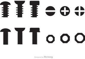 Muttrar och bultvektorer vektor