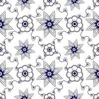 blå sömlös blommönster