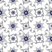 blaues nahtloses Blumenmuster