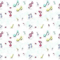 nahtloses Muster von Musiknoten vektor
