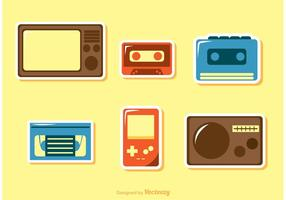 Achtzigerjahre Icons Vector Pack