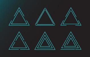 einfache Dreieck-Hud-Schnittstellenelemente vektor